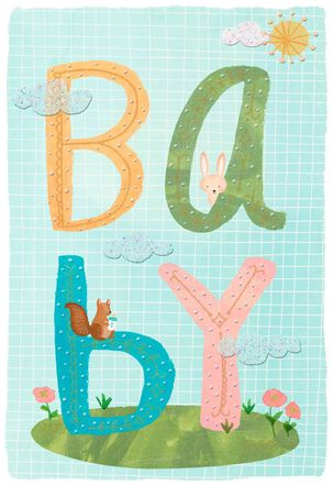 Woodland Animals New Baby Congratulations Card