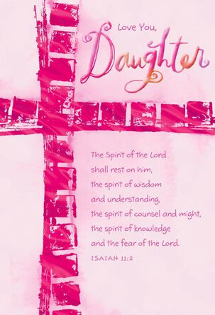 You're a Blessing, Daughter Confirmation Card