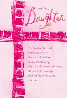 You're a Blessing, Daughter Confirmation Card,