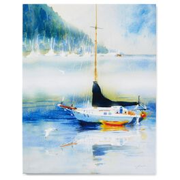 Cedar Cove Sailboat on the Water 16x20 Canvas Art, , large