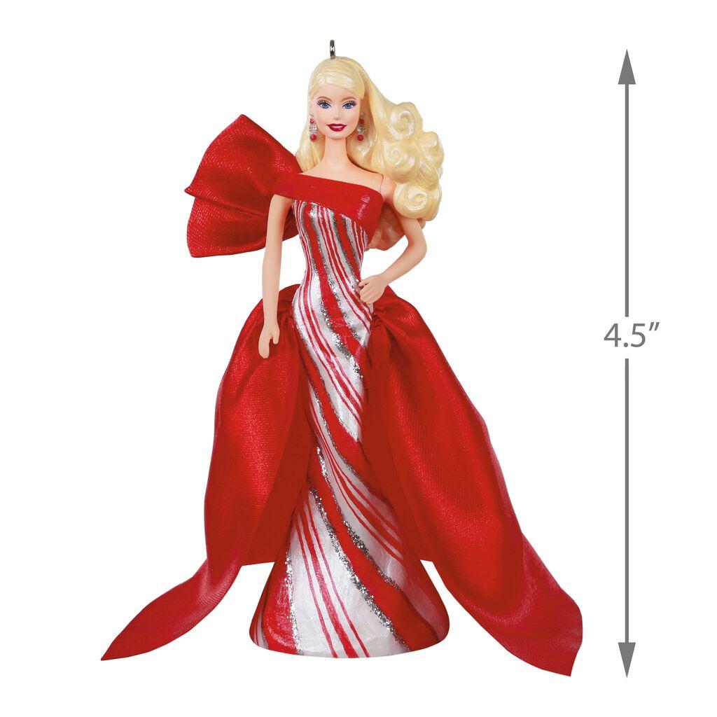 Barbie Christmas Ornament.2019 Holiday Barbie Doll Ornament