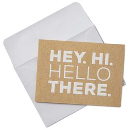 Hey. Hi. Hello There. Blank Note Cards, Box of 10, , large
