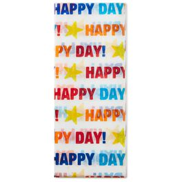Multicolor Happy Day Tissue Paper, 6 sheets, , large