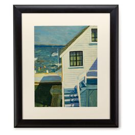 East Coast Home With Ocean View 20x24 Print With Matted Frame, , large
