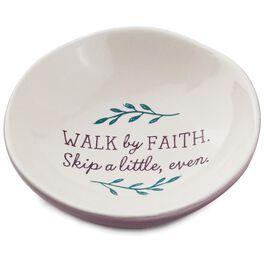 "Walk By Faith Decorative Trinket Tray, 3.5"", , large"