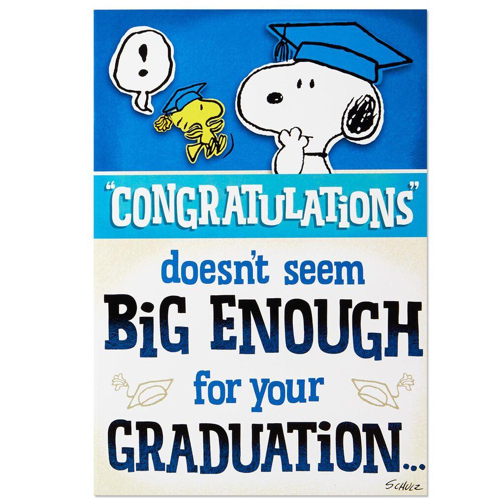 peanuts big congratulations graduation card greeting cards hallmark