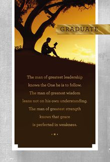 Be Strong and Courageous Religious Graduation Card,