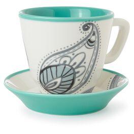 Paisley Teacup and Saucer Set, , large