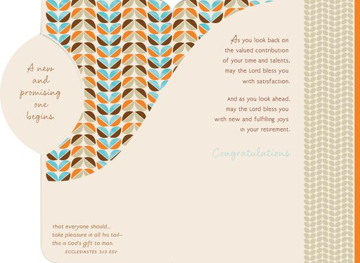 A New Chapter Retirement Card,