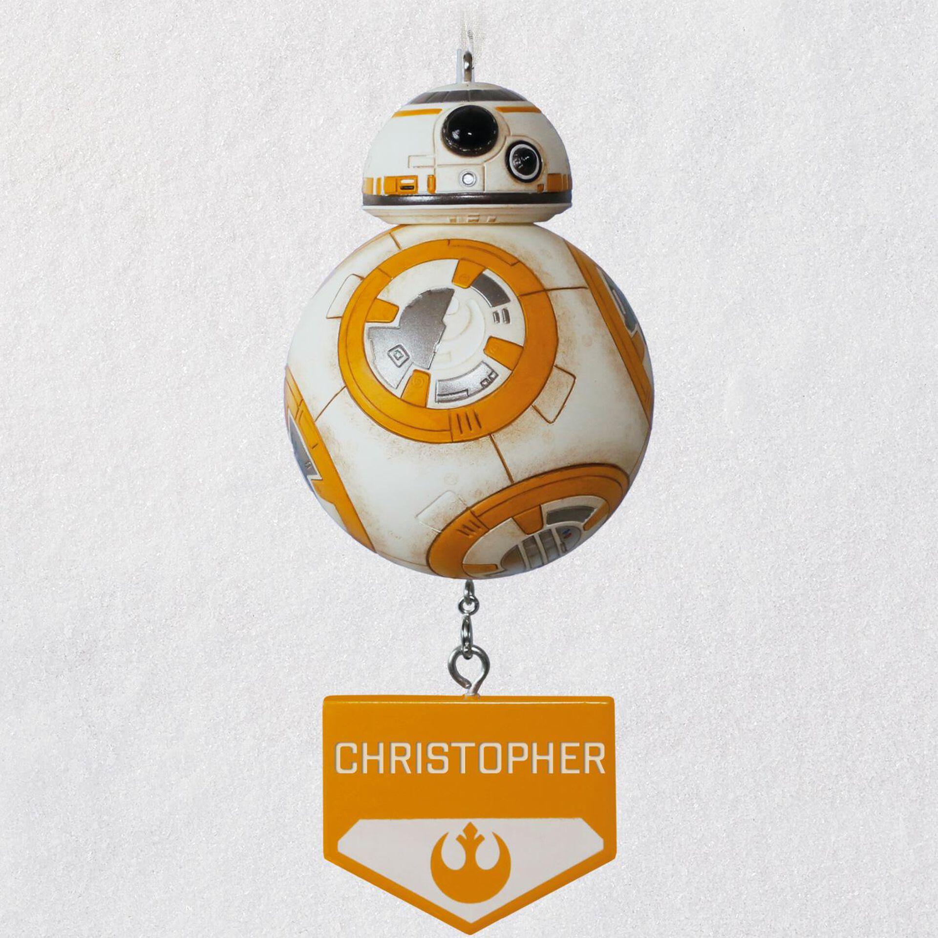 Hallmark Star Wars Disney BB-8 BB8 Decoupage Holiday X-mas Christmas Ornament