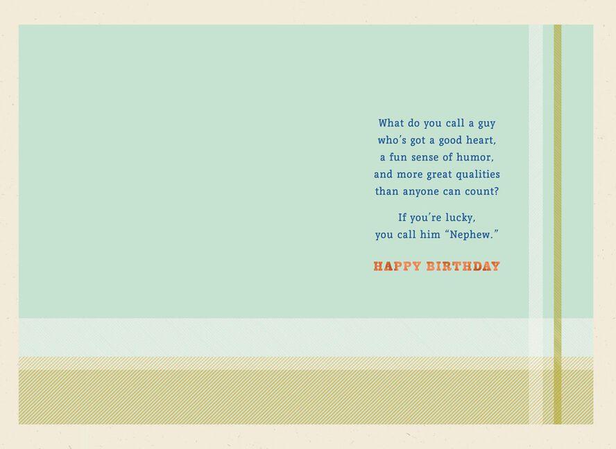 Good Guy Good Heart Birthday Card For Nephew Greeting Cards