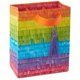 "Rainbow Stripe Piñata Small Gift Bag, 6.5"", , large"