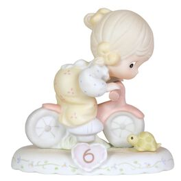 Precious Moments® Growing in Grace Blonde Hair Girl  Figurine, Age 6, , large