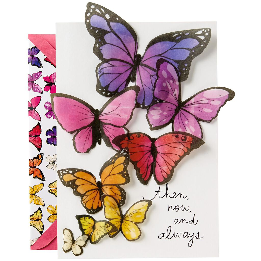 Butterflies Birthday Card For Sister