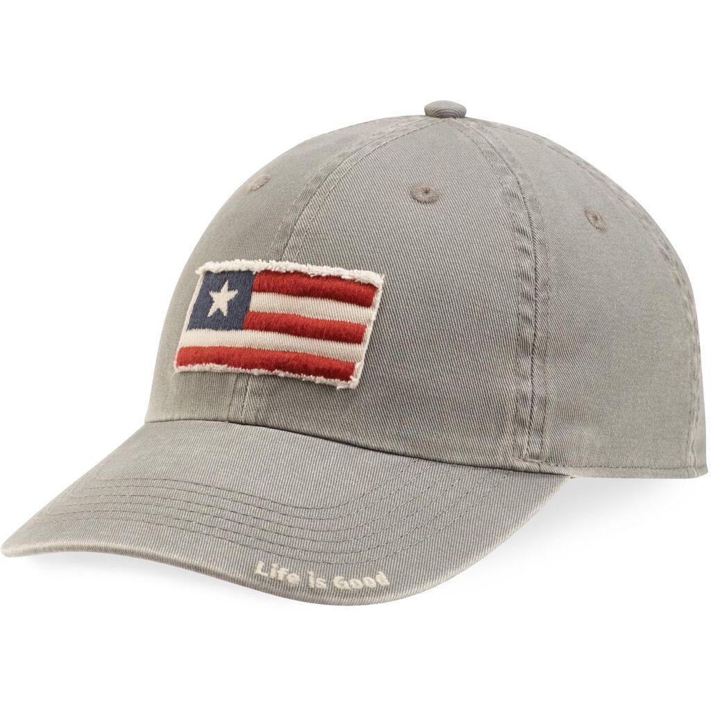 1183796c082b5 Life is Good® Tattered 3 Stripe Flag Men s Baseball Cap - Scarves ...