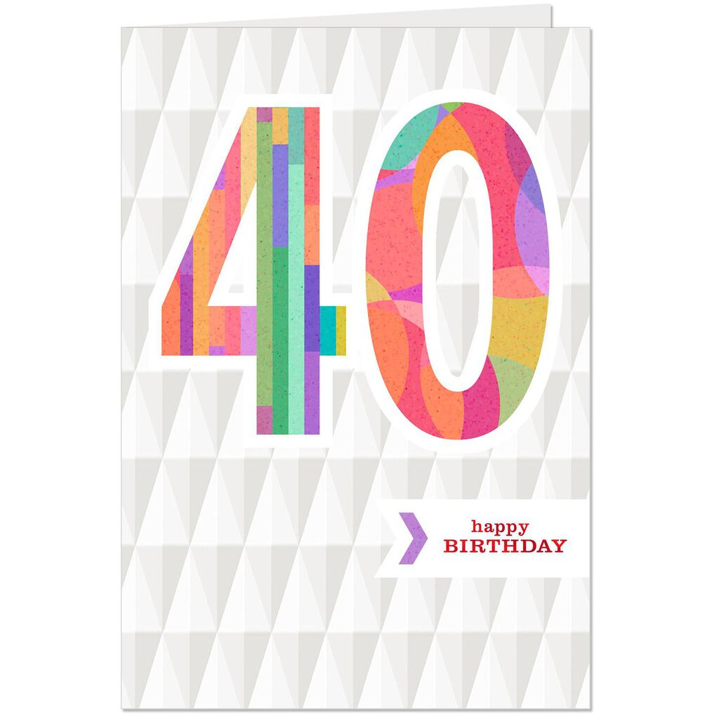 You Make A Difference 40th Birthday Card