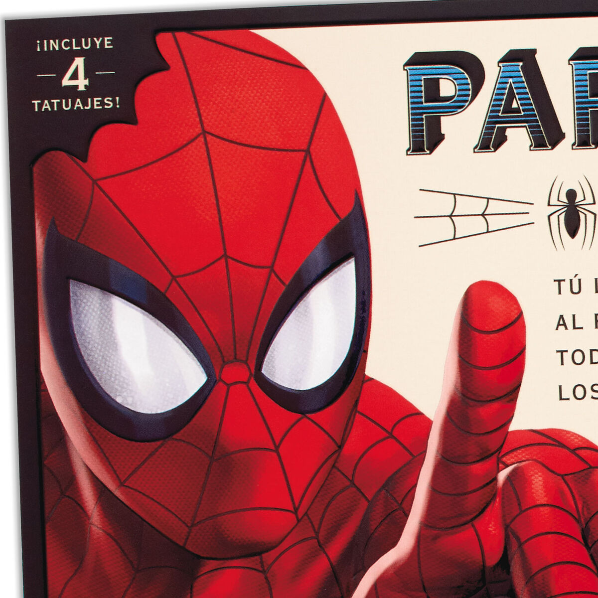 marvel spiderman spanishlanguage father's day card with
