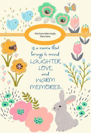 Grandma Pick-a-Title Easter Card