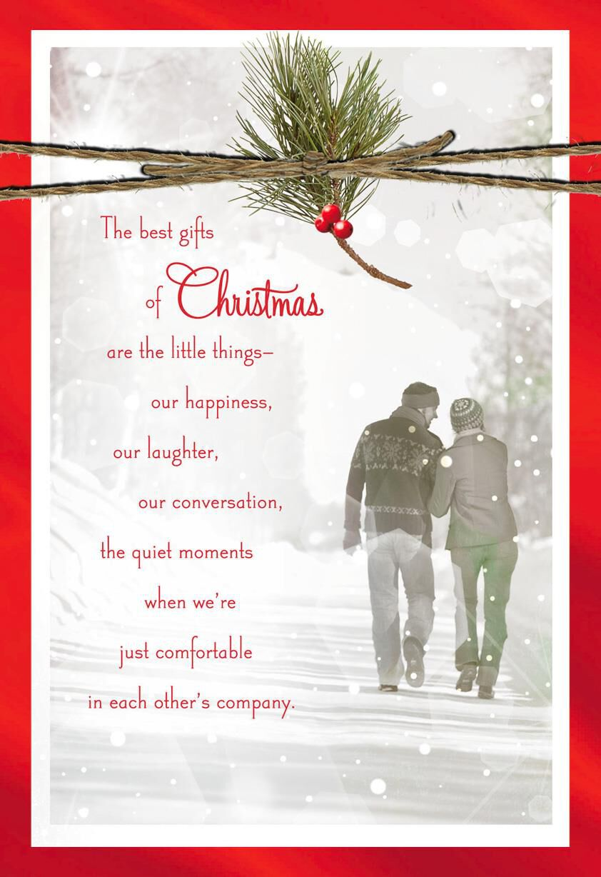 You're the Best Gift Christmas Love Card - Greeting Cards - Hallmark