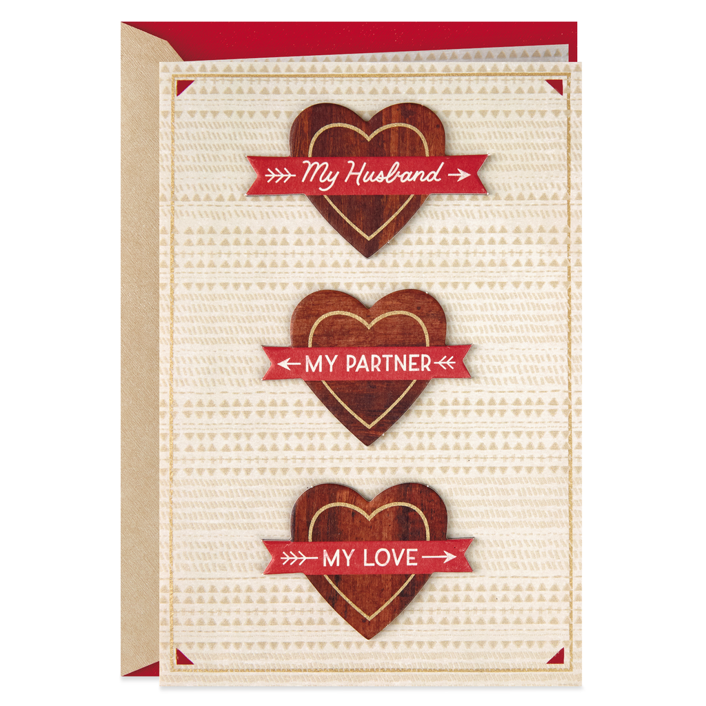 I Love You And Our Life Valentines Day Card For Husband Greeting