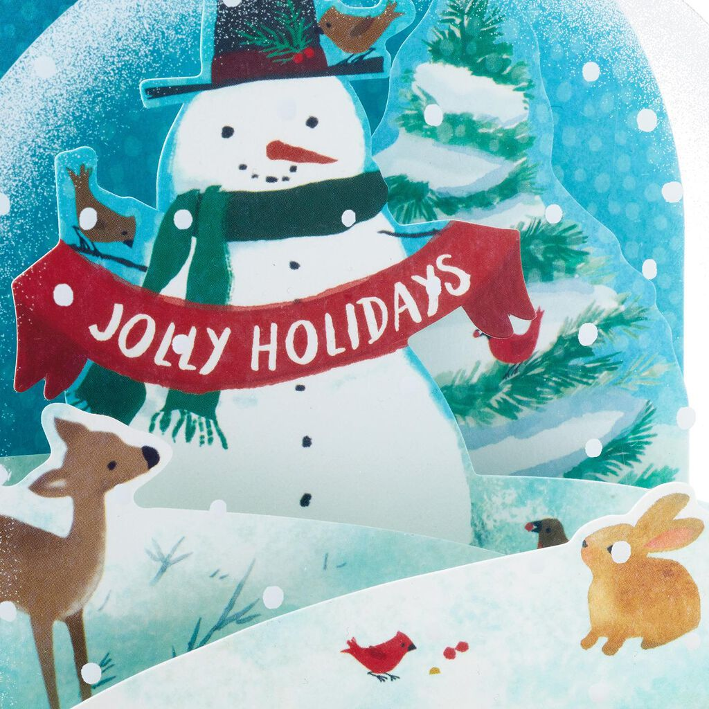 Snowman Snow Globe Pop Up Christmas Card - Greeting Cards - Hallmark