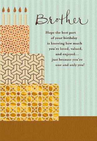 Youre A Blessing Religious Birthday Card For Brother