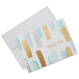 Abstract Brush Strokes Thank You Notes, Box of 10, , large