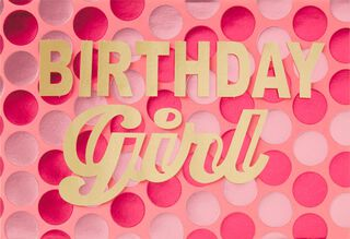 Polka Dot Power Birthday Card,