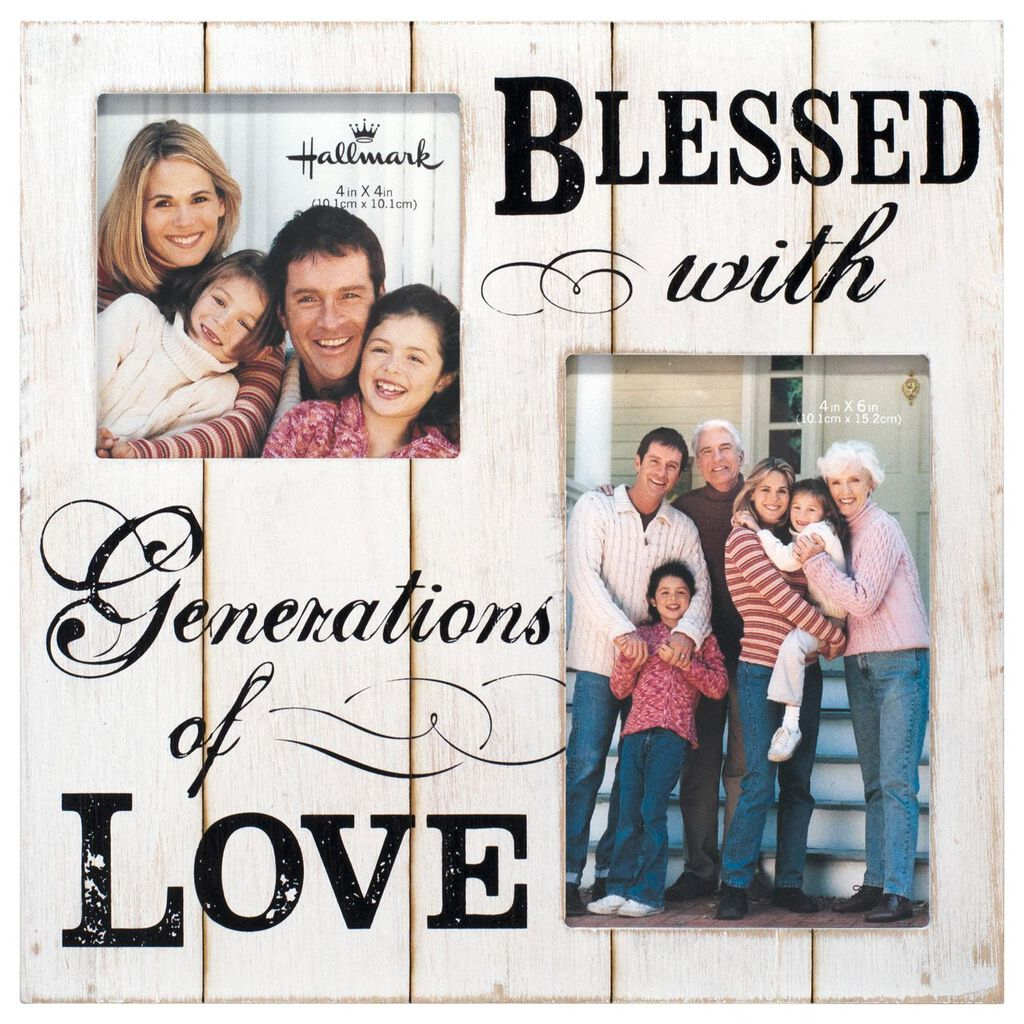 Generations of Love Wood Photo Frame, 4x4 & 4x6 - Picture Frames ...