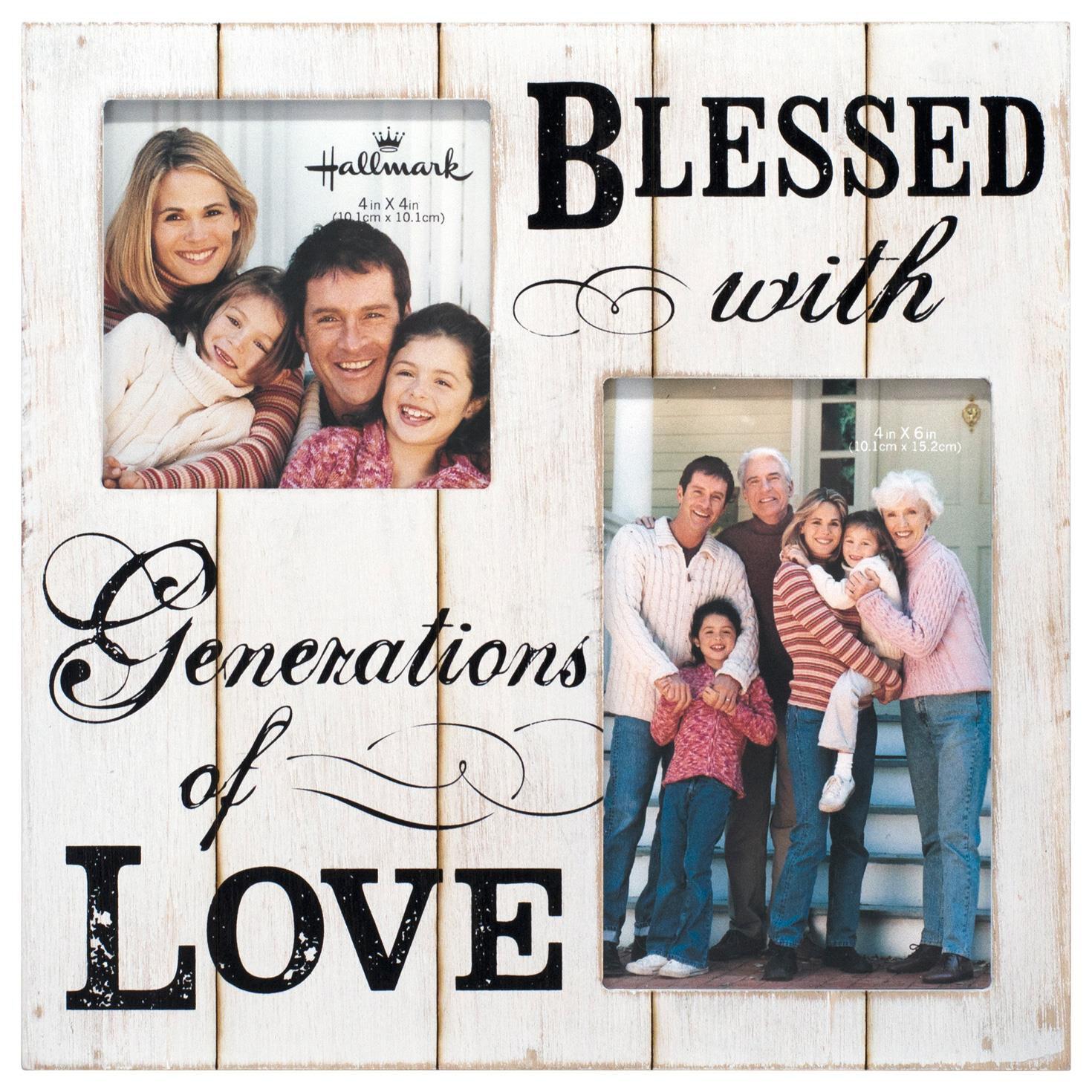 generations of love wood photo frame 4x4 u0026 4x6