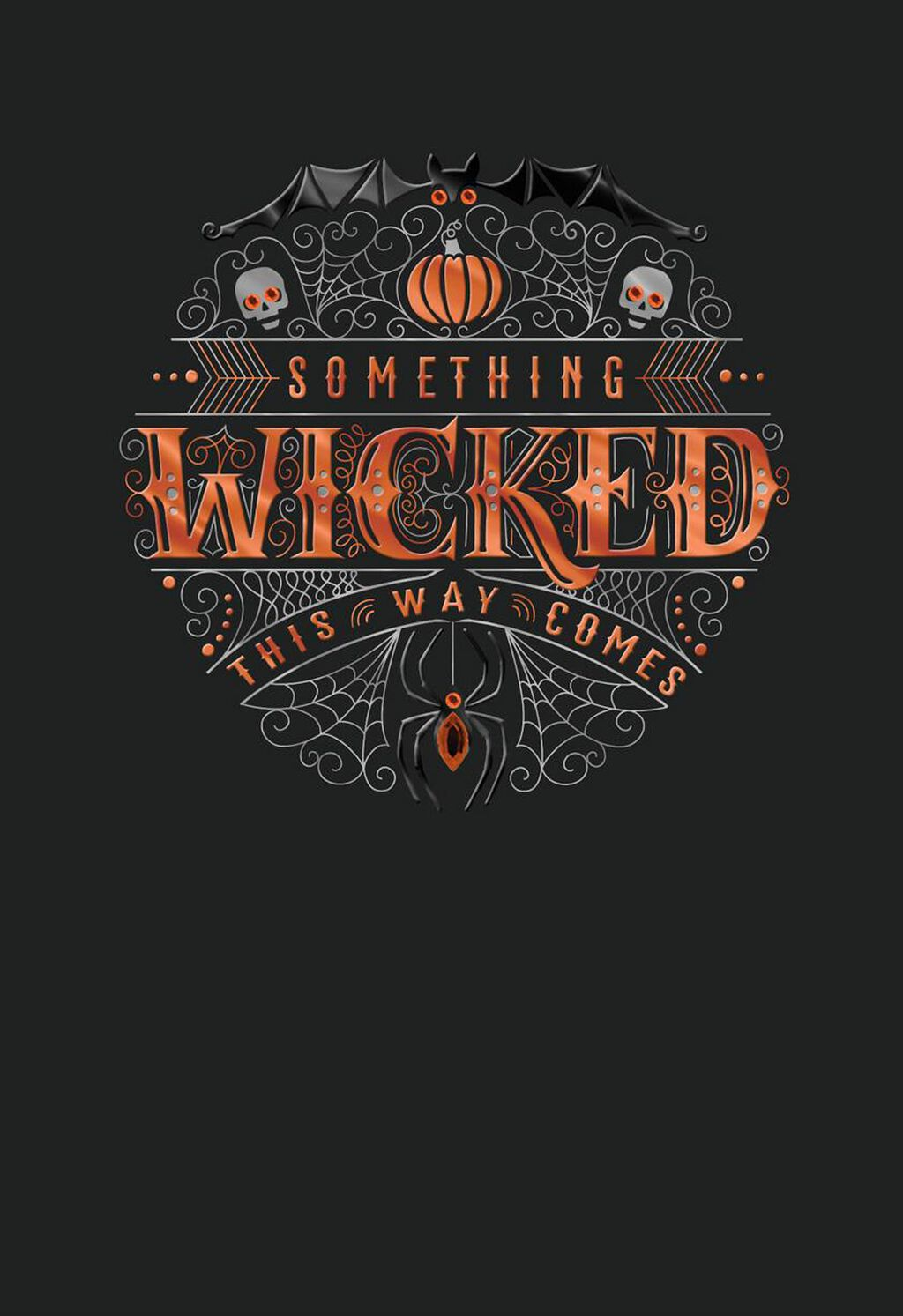 Something Wicked This Way Comes Halloween Card Greeting Cards