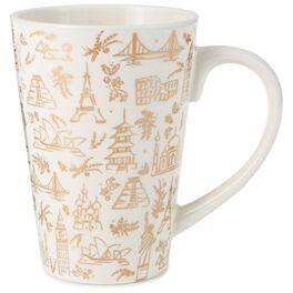 World Icons Mug, 14 oz., , large