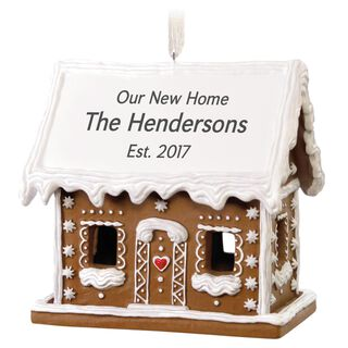 Gingerbread House Personalized Ornament,
