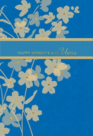 Golden Flowers Father's Day Card for Uncle