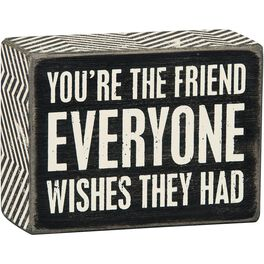 Primitives by Kathy You're the Friend Box Sign, , large