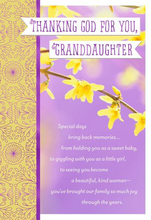 Thanking God for You Religious Easter Card for Granddaughter