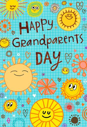 Sunny Smiles Grandparents Day Card