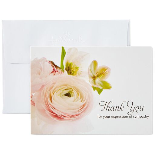 Flower Bouquet Sympathy Thank You Notes Box Of 20