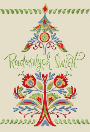 Wishes for the Season Polish-Language Christmas Card