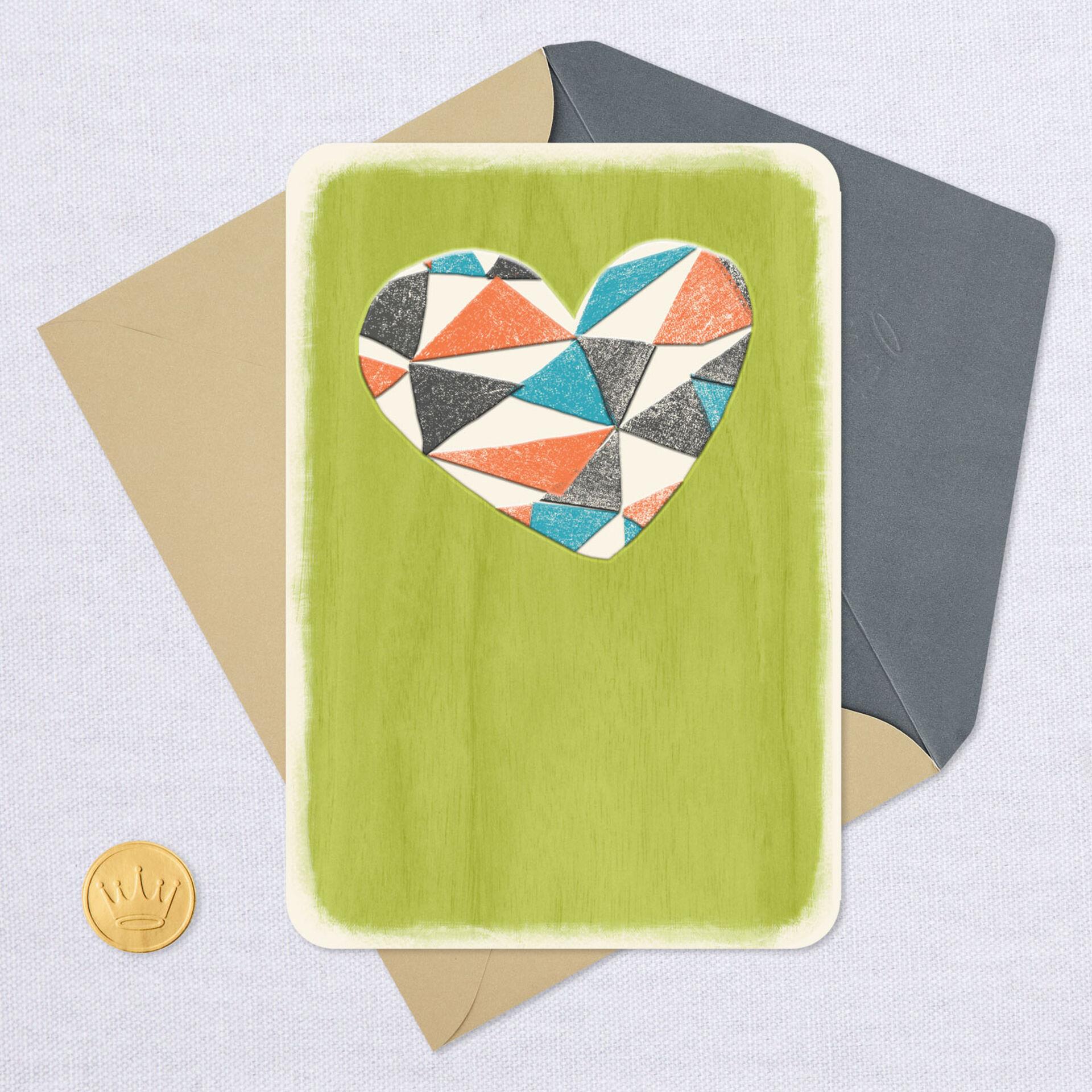 geometric heart blank card  greeting cards  hallmark