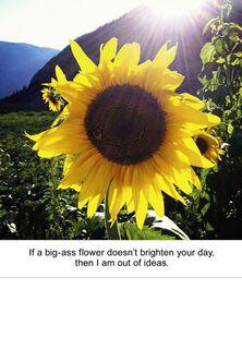 Big-Ass Flower Funny Encouragement Card,