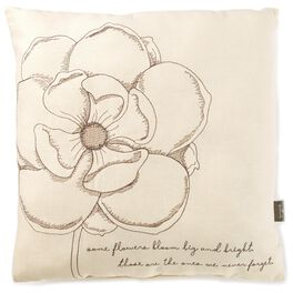 "Some Flowers Bloom Bright Square Pillow, 16"", , large"