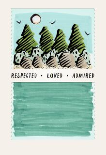 Respected. Loved. Admired. Father's Day Card,