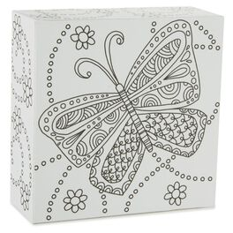 Butterfly 4x4 Coloring Plaque, , large