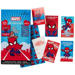 Spider-Man Kids' Valentines With Stickers, 32 Pack, , large