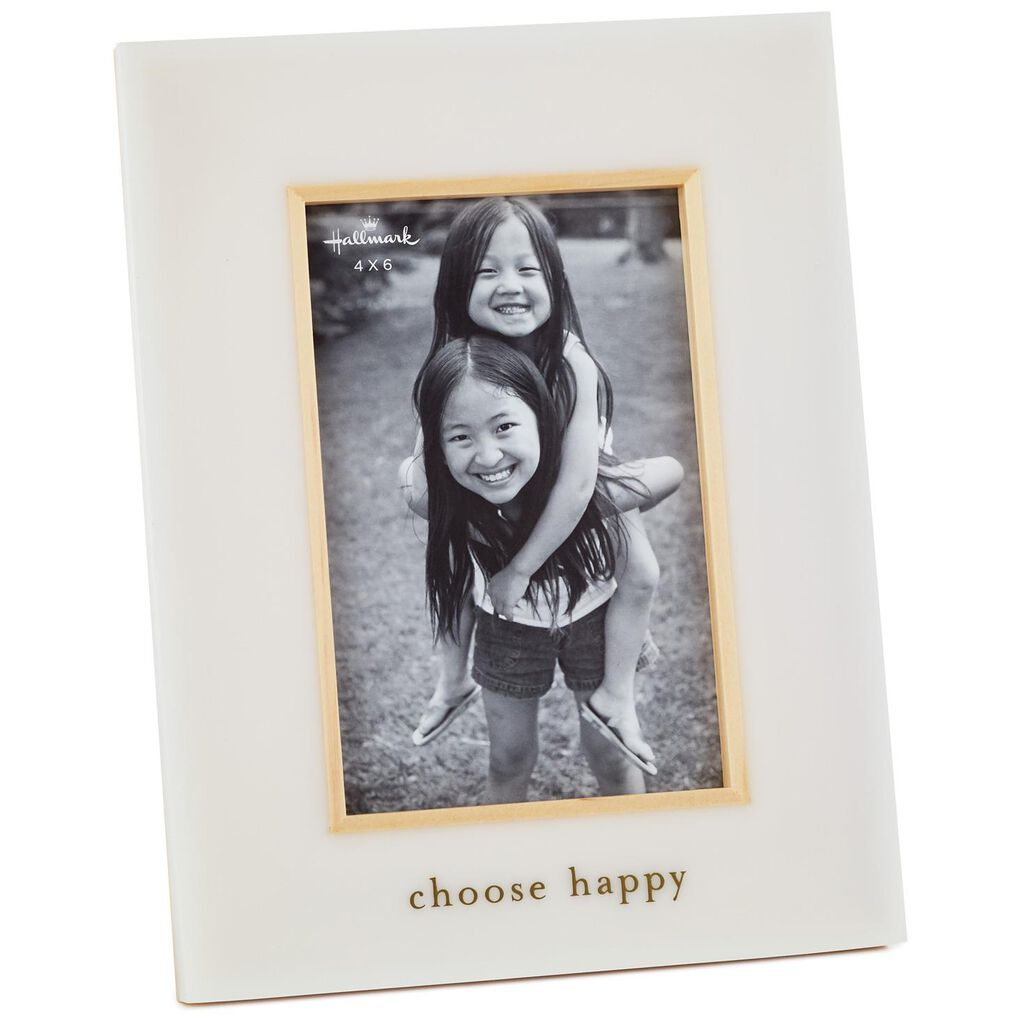 Choose Happy Gold Accent Picture Frame, 4x6 - Picture Frames - Hallmark