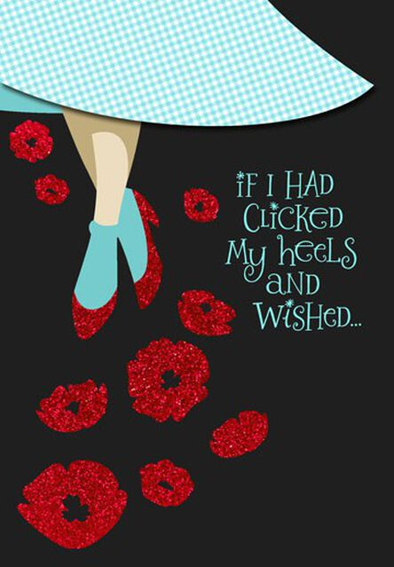 The Wizard Of Oz Ruby Slippers Friend Birthday Card Greeting