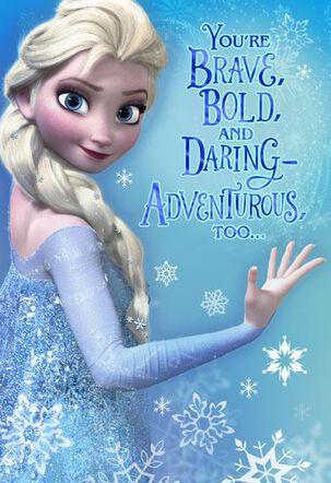 Frozen Elsa Christmas Card