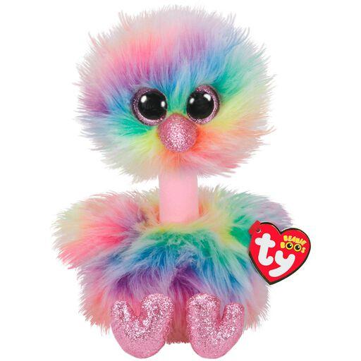 290a99581ae Ty Beanie Boos Medium Asha Rainbow Ostrich Stuffed Animal