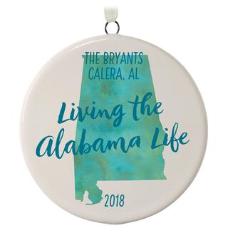 Personalized State Ornament,